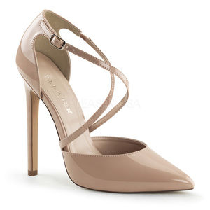 Shoes - 5 Inch High Heel Criss Cross Pointed Toe Shoes